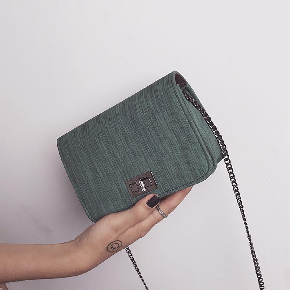 Fashion Women Shoulder Bag Chain Strap Flap Designer Handbags Clutch Bag Ladies Satchel Purse Messenger Bags With Metal Buckle