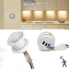 Light Body-Motion-Sensor PIR Switch Time-Delay-Detector Infrared Automatic 110/220V