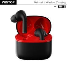 TWS Wireless Earphones Bluetooth 5.0 Waterproof Headsets 700mAh Wireless Charging Intelligent Noise Reduction Earbuds Bass JM13