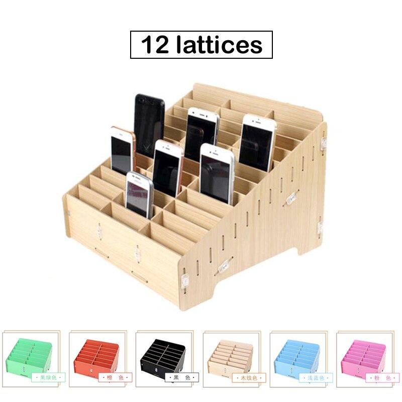 Mobile Phone LCD Repair Storage Box 12 / 24 Dot Matrix Desktop Display Cabinet Maintenance Woodiness Packaging Box