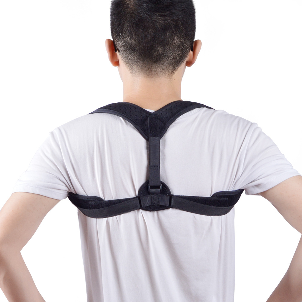Adult Hidden Kyphotone Adjustable Straight Waist Belly Holding Back Clavicular Belt Men And Women Sitting  Orthotics Band