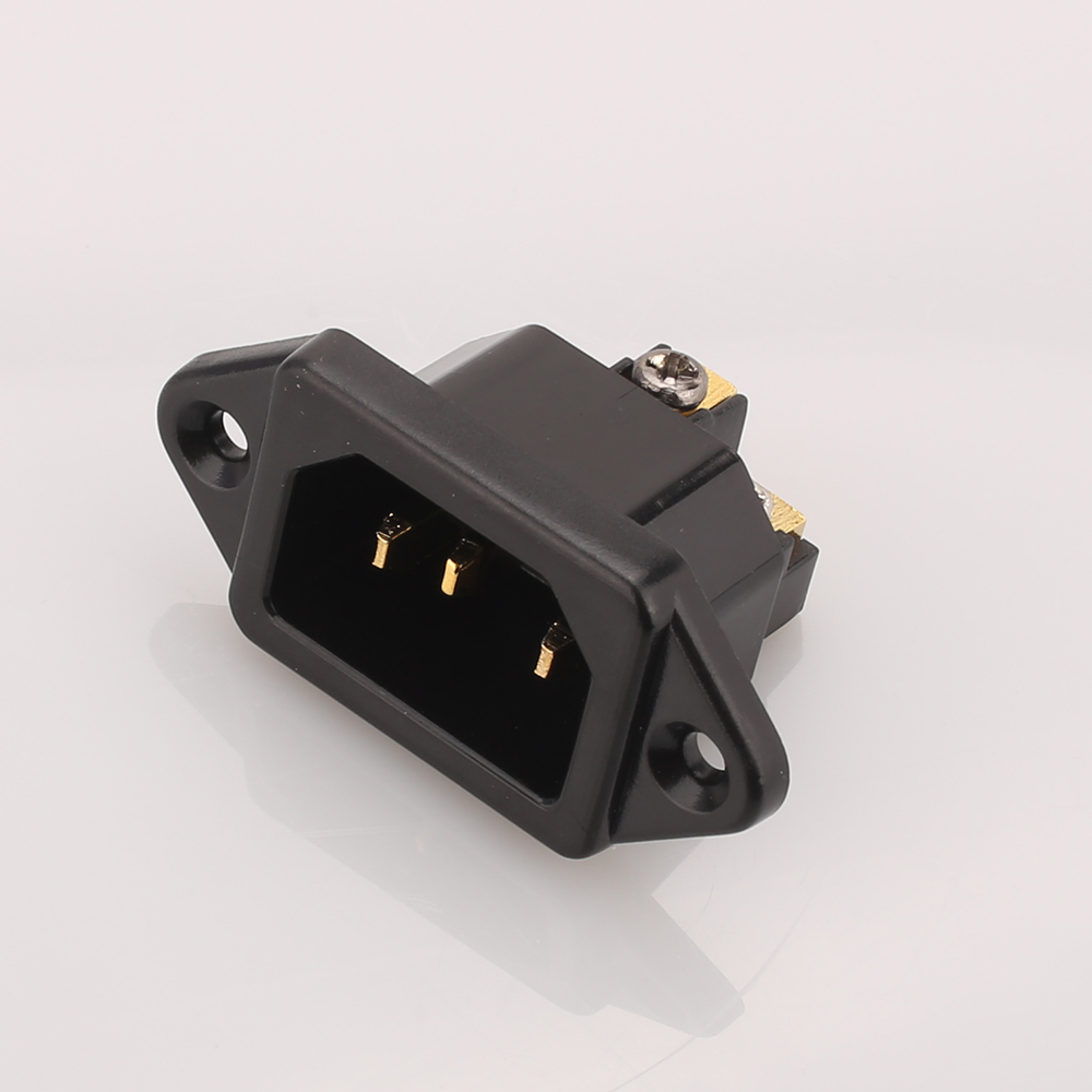 Hi-End Чистая медь 24K позолоченный IEC AC Входная розетка