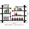 Подвесной Держатель для винной стойки  железный шкаф для винной поддержки  плоский/Современный Железный настенный держатель для вина  книж...