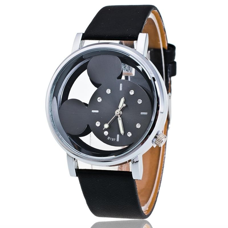 Nova marca de moda couro pulseira relógios chilren menino menina casual relógio de quartzo relógio de pulso de cristal hora 8o78