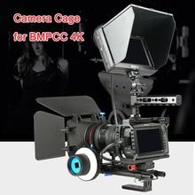 Viltrox هيكل قفصي الشكل للكاميرا BMPCC 4K بلاكماجيك جيب سينما كاميرا واقية قفص قبضة اليد اتبع التركيز مع 1/4 ''3/8'' برغي