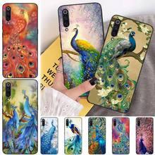 MayDaysmt Beautiful Peacocks Phone Case Cover for xiaomi mi 8 9 8SE 9SE 8Lite mix2 2S max2 3 Pocophone F1 for xiaomi pocophone f1 case slim skin matte cover for xiaomi f1 pocophone f1 case xiomi hard frosted cover xiaomi poco f1 case