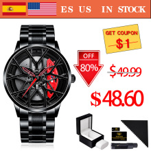 Watches Men Wheel Sport-Rim-Hub Quartz NEKTOM Waterproof