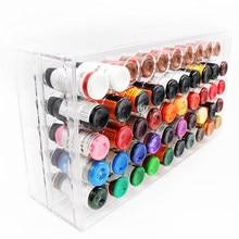 Profissional tatuagem tintas titular e display fix na parede ou mesa para caixa de tinta 50 pçs 1oz pigmentos coletor