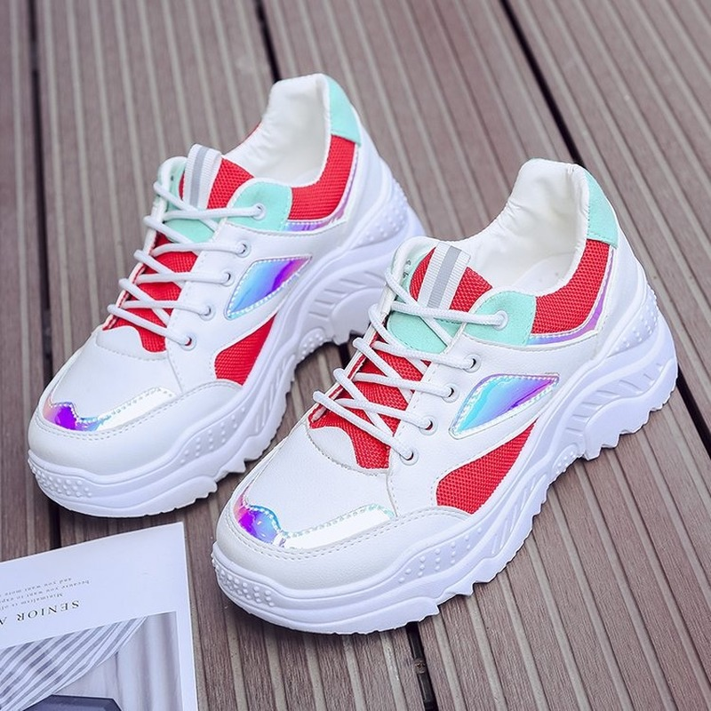 Women Shoes 2019 New Chunky Sneakers For Women Vulcanize Shoes Casual Fashion Dad Shoes Platform Sneakers Basket Femme Plus Size