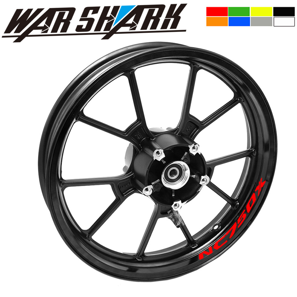 New Motorcycle High Quality 3M Adhesive Wheel Decal Reflective Stickers Rim Stapes For Honda NC750 NC750X NC750S