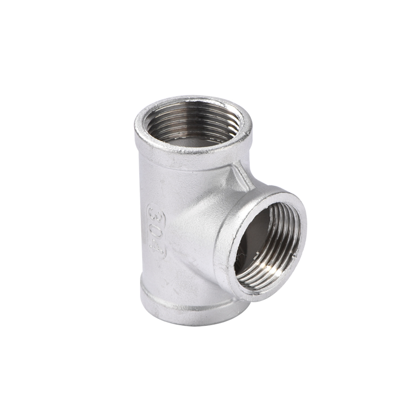 Water Pipe Fitting 3 way equal tee SS 304 Stainless Steel adapter 1/8