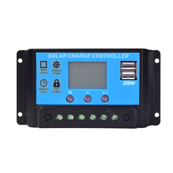 цена на 12V 24V 10A /20A / 30A / 40A solar charge controller PWM+Dual USB output solar controller module kits boat yacht RV motor marine