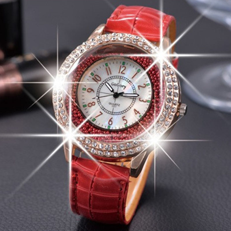 Gogoey Watches Luxury Fashion Women Crystal Quartz Womens Female Watch Clock reloj mujer elegante