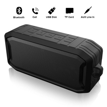 цена на Wireless Bluetooth Speaker Portable Column Outdoor Waterproof Speaker with FM Radio Support USB AUX TF Stereo Music Box Speakers