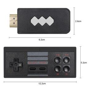 Image 5 - USB bezprzewodowy ręczny konsola do gier TV wideo budować w 1551 klasyczne 8 bitowych gier mini konsola podwójny Gamepad wyjście HDMI