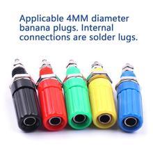 10 шт./упак. красочные 44 мм M3 Винтовые клеммы с 4 мм банан разъем клеммы контрольные выводы вилки типа «банан разъем