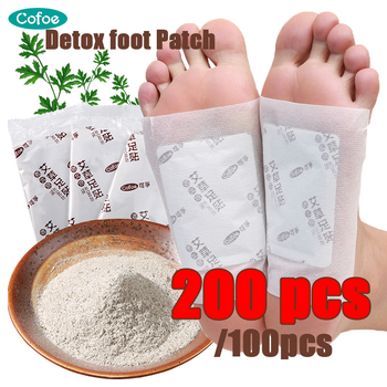 Cofoe Detox Foot Patches Improve Sleep Slimming Feet Stickers toxin feet pads Dispel Dampness 200/100Pcs (Patches+ Adhersives) 100pcs patches adhesives detox foot patch bamboo pads patches with adhesive improve sleep beauty slimming patch relieve stress