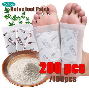 Cofoe Detox Foot Patches Improve Sleep Slimming Feet Stickers toxin feet pads Dispel Dampness 200/100Pcs (Patches+ Adhersives)(China)