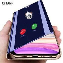 Lustro etui z klapką Caso pokrywa dla Huawei Y9s 2019 Fundas Huawei Huawei Huawei Huawei S9y Y 9 S 9 s S9 Huaweiy9s skrzynki pokrywa zwykły