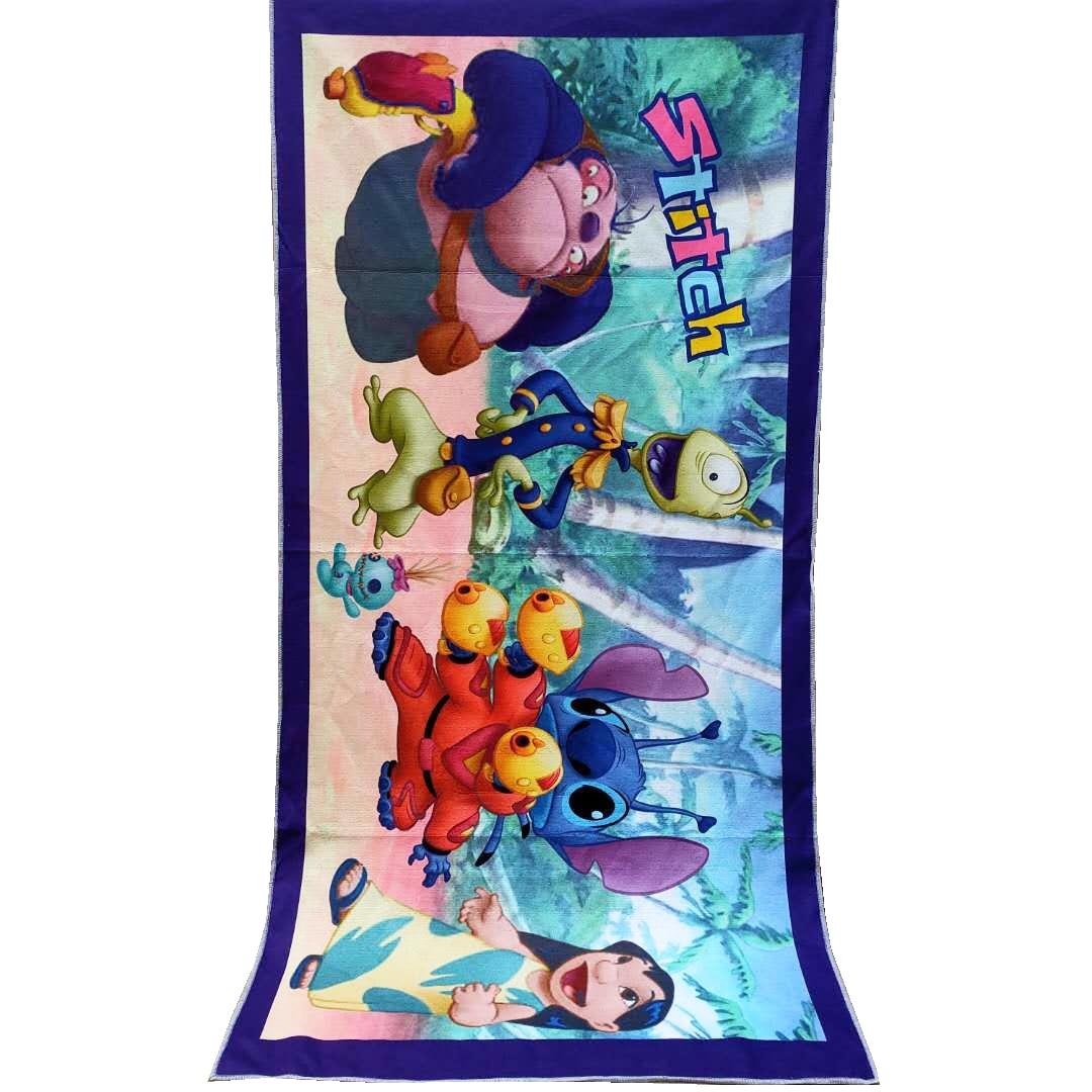 Cartoon Blue Stitch Simba Lion King Boys Girls Bath/Pool/Beach Towel Super Soft Absorbent  Swimming Towel Washcloth 70x140cm