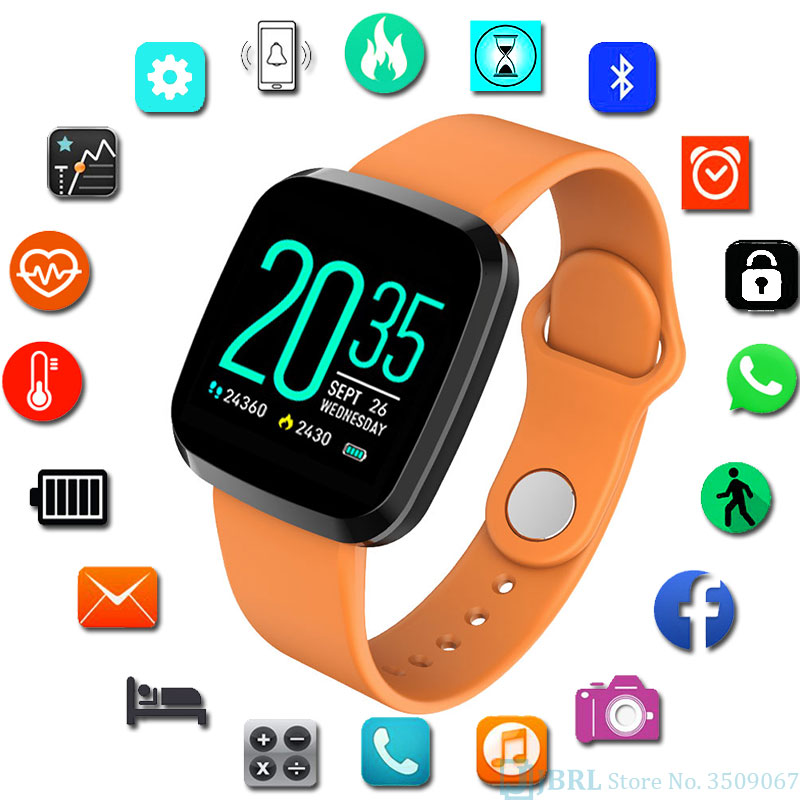 NEW Boys Watch Children Digital Watch For Android IOS LED WristWatch Child Sports Pedometer Color LED Wrist Watches Kid Watches