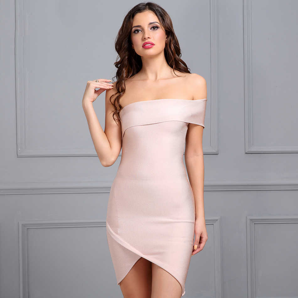 Seamyla 2019 New Winter Bandage Dress Strapless Bodycon Vestidos Womne Sexy Night Out Dresses Celebrity Evening Party Dresses