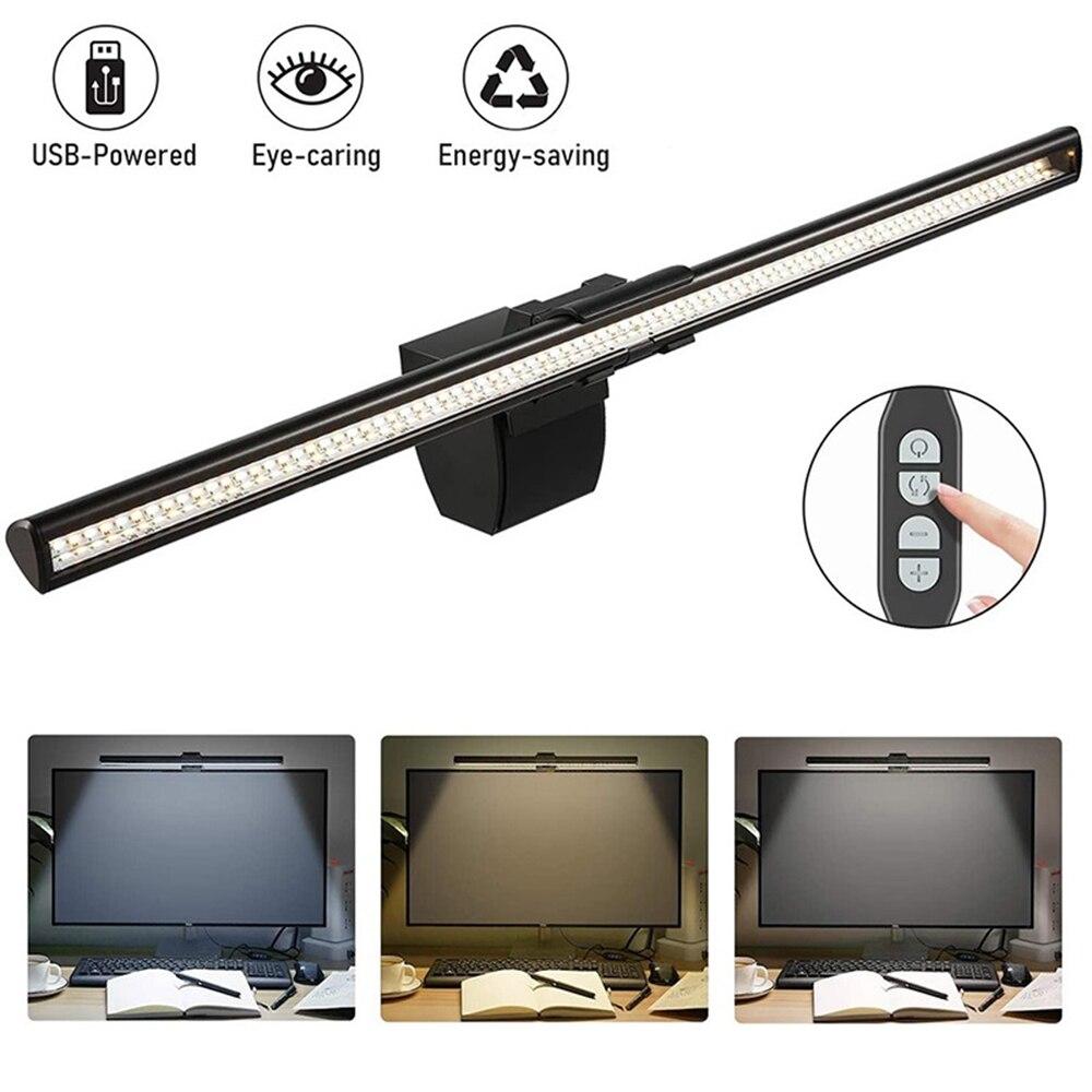 Usb led tela barra de luz desktop lâmpada de exibição pode ser escurecido monitor do portátil pendurado luz led lâmpada de mesa proteção para os olhos lâmpada de leitura