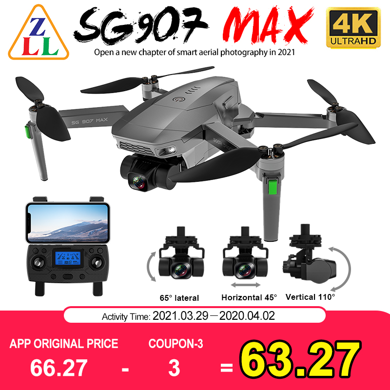 ZLL SG907 MAX 4K Camera GPS Drone 5G WiFi With 3 Axis Gimbal ESC 25 Minutes Flight Profesional RC Quadcopter Dron SG906 PRO 2