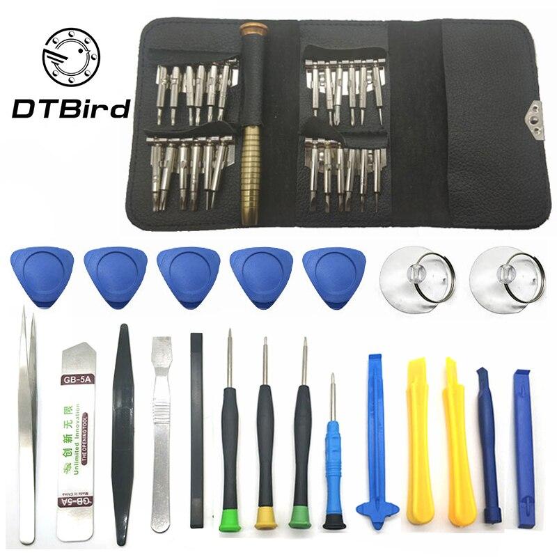 11 em 1 telefones celulares abertura pry kit ferramenta de reparo do telefone móvel chave de fenda conjunto para iphone samsung xiaomi acessórios pacotes dt6