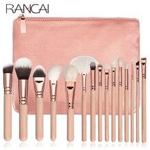 RANCAI cosmétiques pinceaux de maquillage ensemble 10/15 pièces Kit complet poudre eye brochas fard à paupières pinceau pinceaux de maquillage de haute qualité