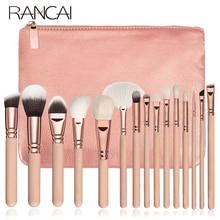 RANCAI kozmetik makyaj fırça seti 10/15 adet komple kiti toz Eyebrochas göz farı fırça yüksek kaliteli makyaj fırçaları