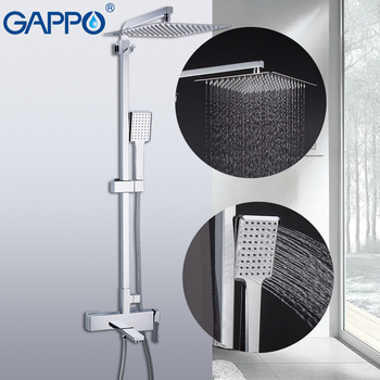GAPPO Shower System bathroom shower faucet tap bath mixer bathtub faucet set waterfall shower set chrome rain shower head 12