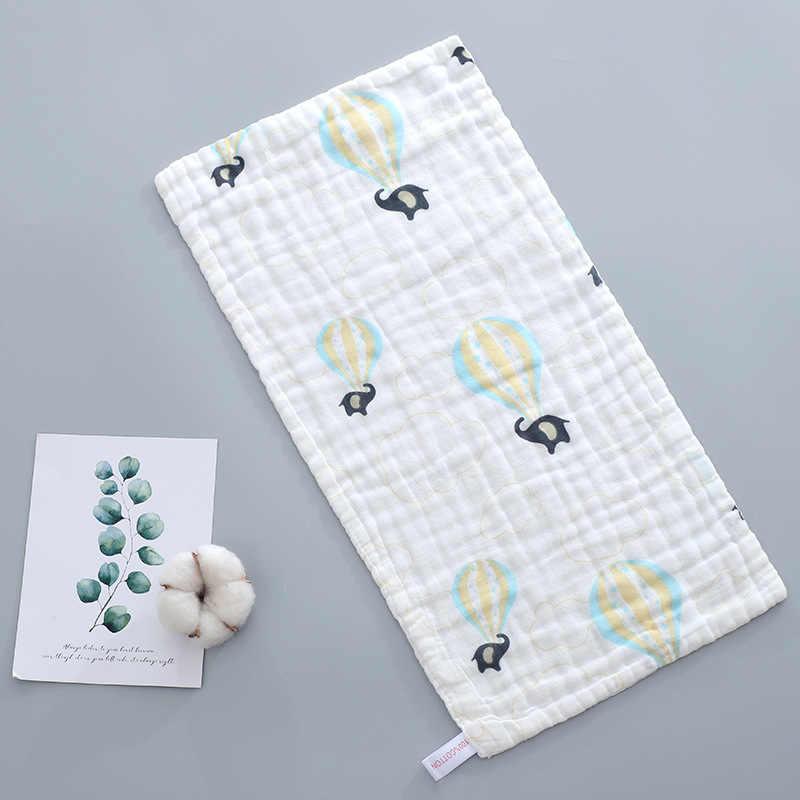 5 шт., детское полотенце, 100% хлопок, 25x50 см, муслиновое полотенце, 6 слоев марли, детское полотенце для лица