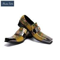 Christia Bella Plus Größe männer Business Casual Schuhe Leder Brock Herren Sommer Schuhe Koreanische Version Kleid Hochzeit Schuhe