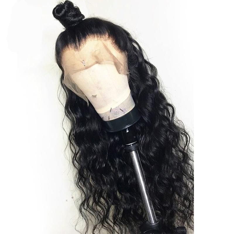 Websterwigs Black Long Wave Synthetic Lace Front Wigs For Women Glueless Heat Resistant Fiber Hair Daily Use HandTied Wig