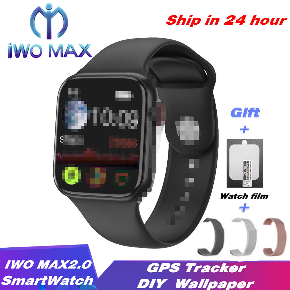 IWO MAX <font><b>2.0</b></font> Smartwatch DIY <font><b>Watch</b></font> Face Bluetooth Call <font><b>Smart</b></font> <font><b>Watch</b></font> Heart Rate GPS Tracker Sport Band For <font><b>Android</b></font> IOS PK IWO 12 W26 image