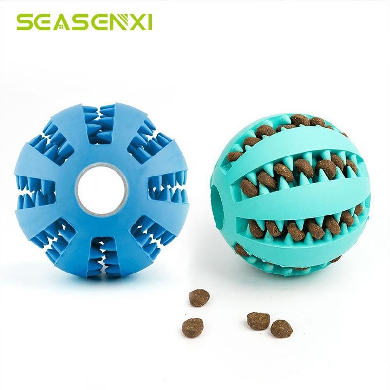 Резиновый мяч для собак, забавная игрушка для щенков, большие питомцы, мяч для чистки зубов, товары для домашних животных-0