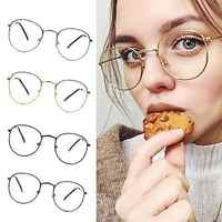 Women Men Fashion Simple Classic Gold Metal Frame Glasses Classical Vintage Style Optical Glasses #2