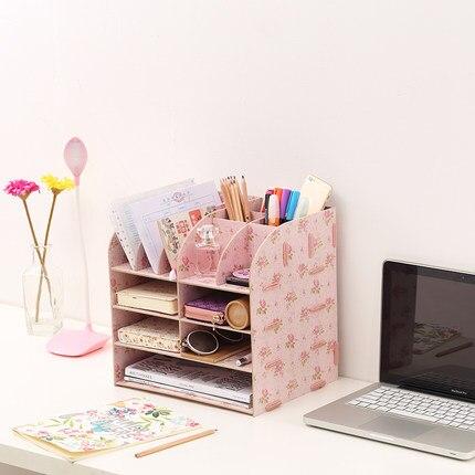 Multifunktions Büro Zubehör Organizer Schreibtisch Regal Holz A4 Datei Veranstalter Schreibtisch Lagerung Box Schreibtisch Veranstalter