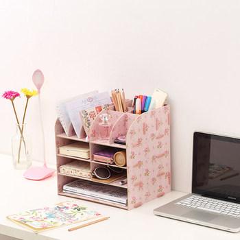 Wielofunkcyjne akcesoria biurowe Organizer półka na biurko drewniany A4 Organizer na dokumenty schowek na biurko organizator na biurko tanie i dobre opinie Biurko zestawy Drewna desk organizer
