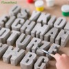 Alphabet Concrete Silicone Molds Cement Capital Letters Number Mould Cake Resin Mold DIY Plaster Handmade Home Decorations Tools