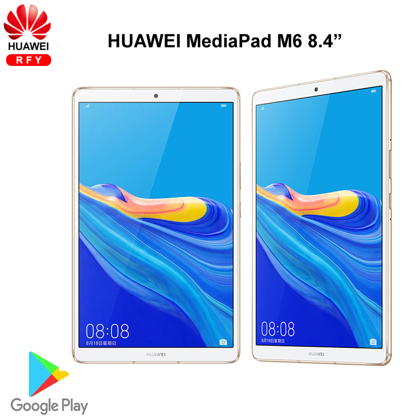 Оригинальный Huawei Mediapad M6 8,4 дюймов 6 ГБ 128G Wi-Fi планшеты ПК Kirin980 Octa Core Android 9,0 Google play 6100 мАч Type-C 2560x1600