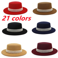 Sombrero fedora de cadena con perlas rojas para mujer, sombrero de fieltro para mujer, sombrero de jazz para mujer, sombrero con perla