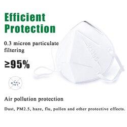 Kn95 KF94 Maska Maska jednorazowa Maska ochronna na twarz 95% filtracja bawełna maski na usta przeciwpyłowy 4 filtr przeciw kropelce N95 Maska 2