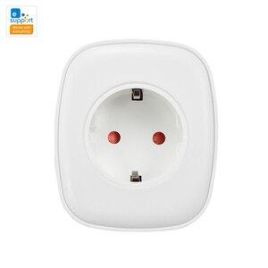 Умная розетка eWeLink, WiFi, умная розетка, Тип F, ЕС, 220 В, 16A, монитор питания, умный дом, совместимо с домом, мини Alexa