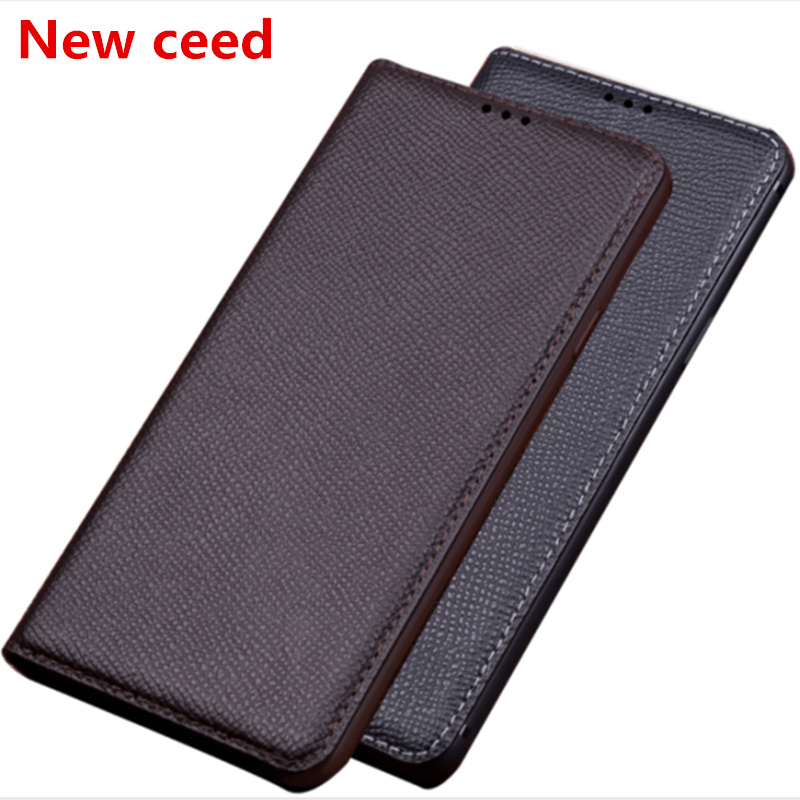 Natural genuine leather magnetic holder phone bag for <font><b>Asus</b></font> <font><b>Zenfone</b></font> 6Z ZS630KL/<font><b>Zenfone</b></font> <font><b>6</b></font> <font><b>2019</b></font> ZS630KL phone cover standing coque image