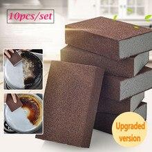 Behogar 10 pçs nano emery esponja escova de limpeza de lavagem limpador purificador carborundum esponja borracha escova para cozinha pratos ferramenta