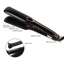Hair Straightener Multi-function Steam Spray Straight Comb Infrared Negative Ion Care Tools