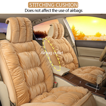 Soft Plush Car Seat Covers Automobiles Seat Cover Cushion Pad Car Seat Protector Set Universal Winter Auto Interior Accessories