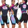 Time profissional triathlon roupa de ciclismo, camiseta de manga curta feminina, macacão, conjunto de ciclismo em gel, 2020 15